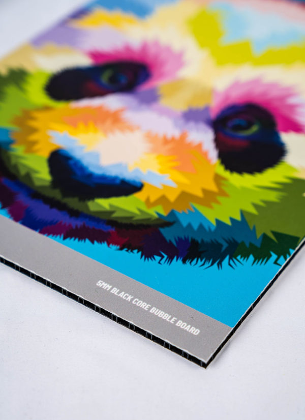 Bubble Board printed example